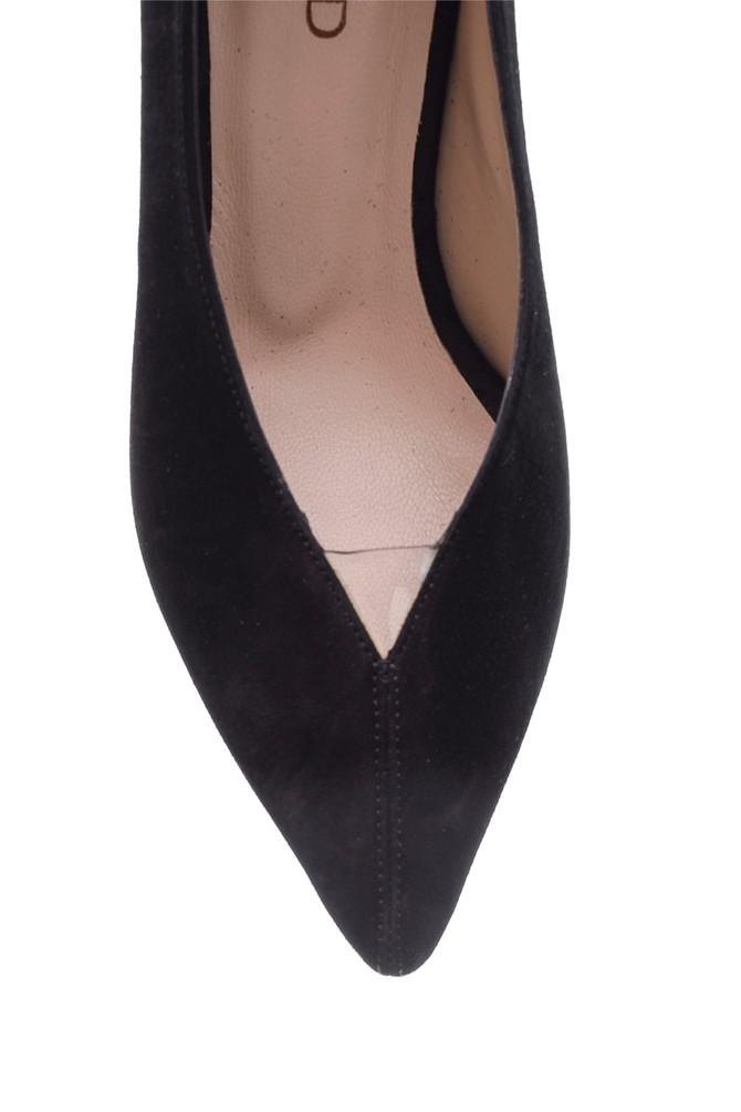 5638115995 Kadın Süet Deri Topuklu Ayakkabı