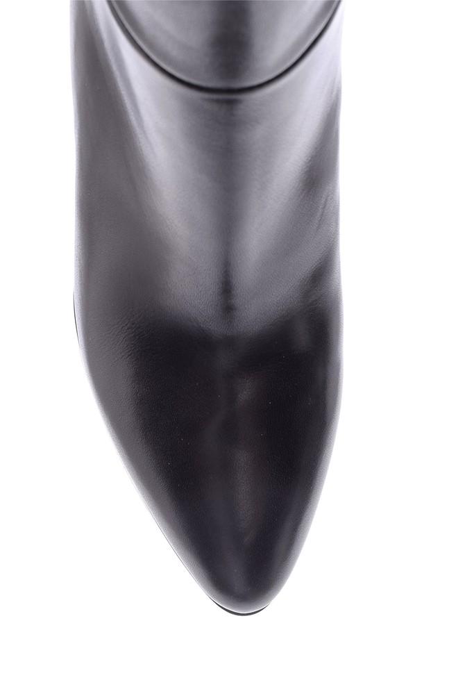 5638098293 Kadın Topuklu Deri Çizme