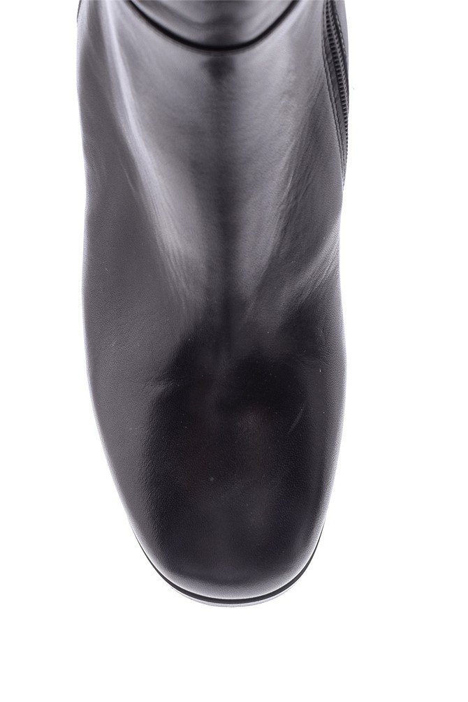 5638098301 Kadın Topuklu Deri Çizme