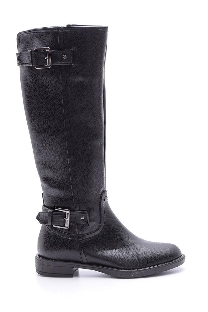 Siyah Kadın Toka Detaylı Çizme 5638067909