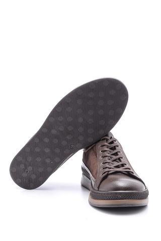 Erkek Süet Detaylı Deri Spor Ayakkabı
