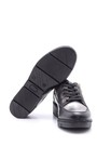 5638093981 Kadın Fermuar Detaylı Deri Spor Ayakkabı