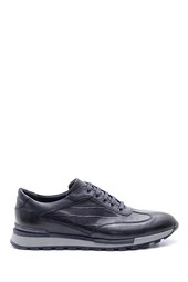 5638086100 Erkek Kroko Detaylı Deri Sneaker