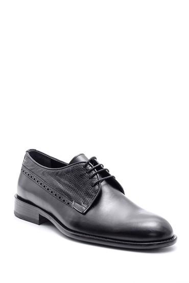 Siyah Erkek Deri Kösele Tabanlı Ayakkabı 5638088448