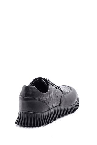 Erkek Kroko Desenli Deri Sneaker