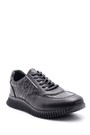 5638105692 Erkek Kroko Desenli Deri Sneaker