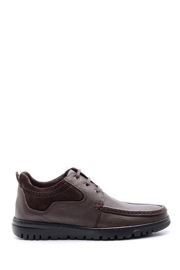 Kahverengi Erkek Deri Bağcıklı Ayakkabı 5638095846