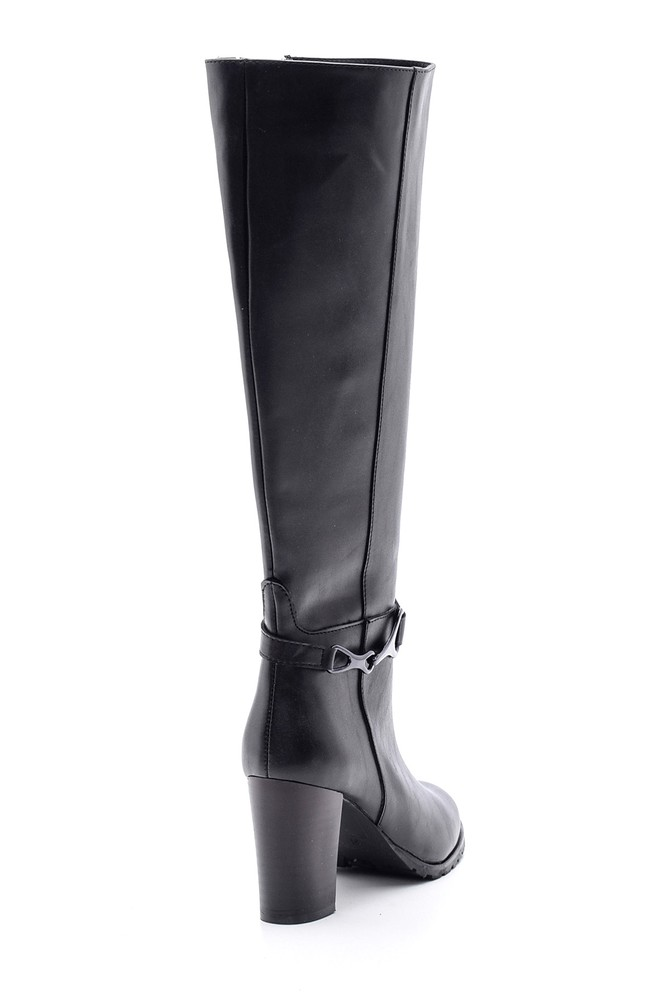 5638067950 Kadın Topuklu Deri Çizme