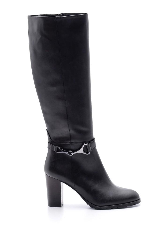 5638067952 Kadın Topuklu Deri Çizme