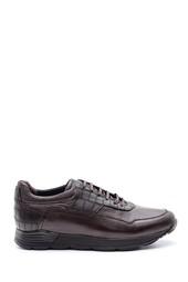 5638085995 Erkek Kroko Detaylı Deri Sneaker