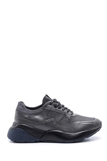 5638089199 Erkek Yüksek Tabanlı Deri Sneaker