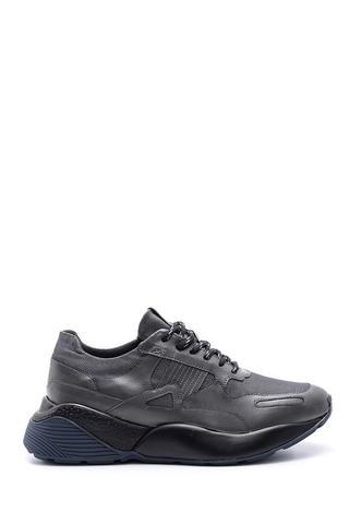Erkek Yüksek Tabanlı Deri Sneaker