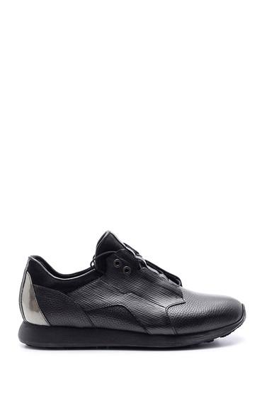 Siyah Erkek Deri Sneaker 5638090317