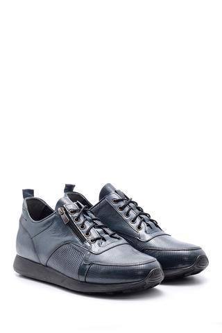 Erkek Fermuar Detaylı Deri Ayakkabı