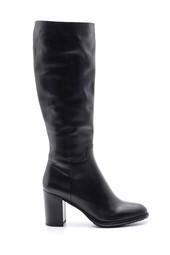 5638103370 Kadın Deri Topuklu Çizme