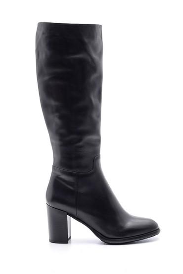 Siyah Kadın Deri Topuklu Çizme 5638103370