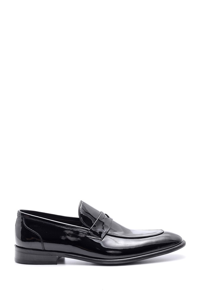 Siyah Erkek Rugan Deri Klasik Loafer 5638080175