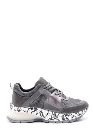 Kadın Yüksek Tabanlı Desenli Sneaker