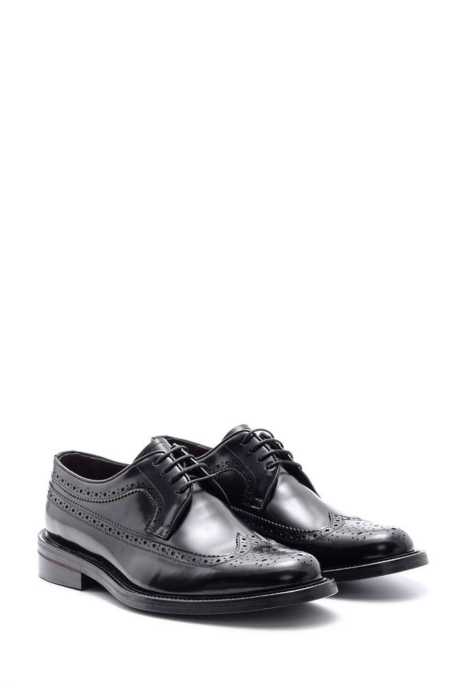 5638094588 Erkek Deri Kösele Tabanlı Ayakkabı