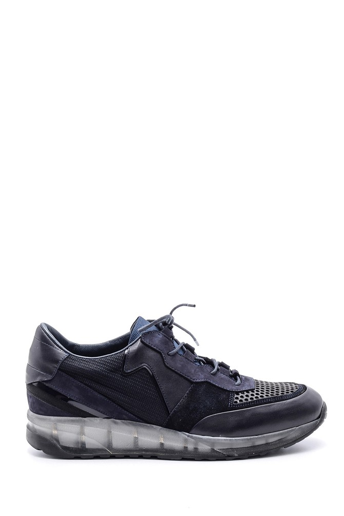Lacivert Erkek Şeffaf Tabanlı Sneaker 5638094725