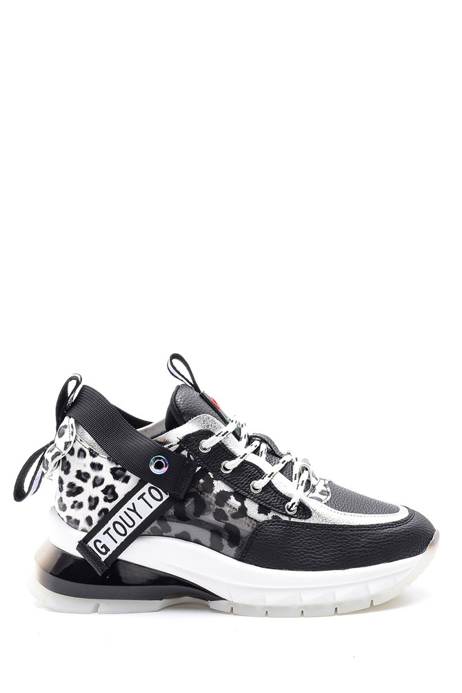 Siyah Kadın Desenli Sneaker 5638114333