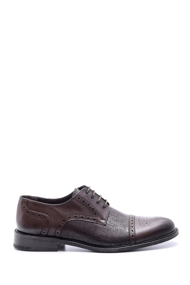Kahverengi Erkek Klasik Deri Ayakkabı 5638080315