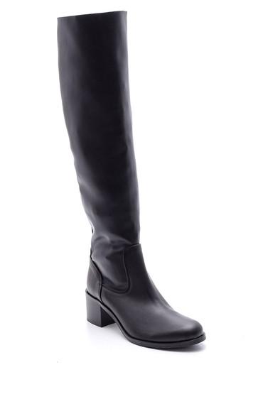 Siyah Kadın Deri Çizme 5638085273