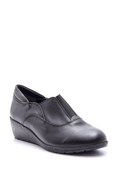 Siyah Kadın Deri Ayakkabı 5638086976