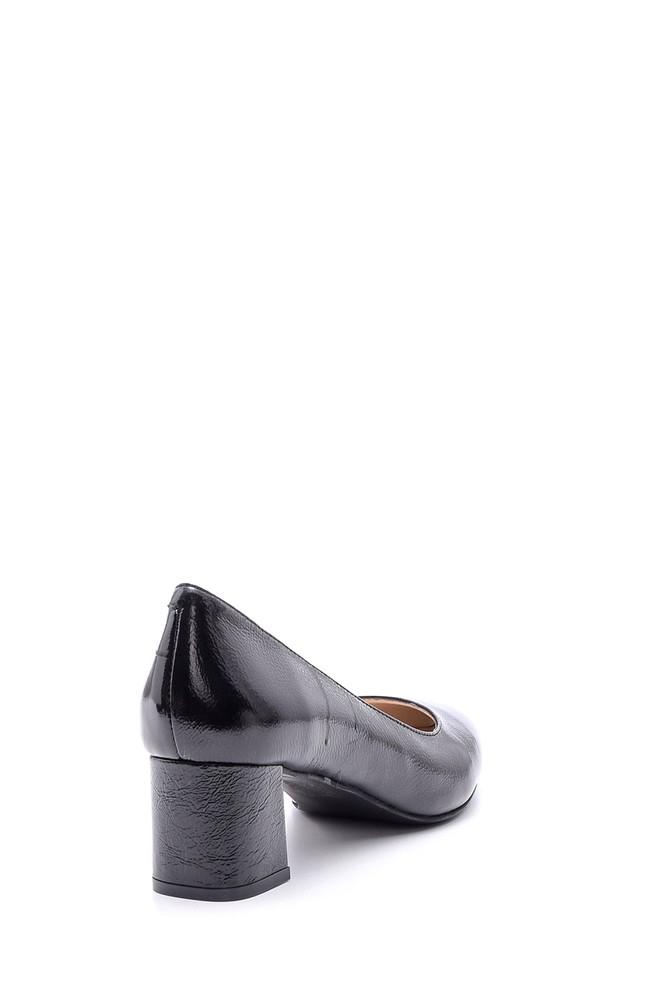 5638092886 Kadın Topuklu Rugan Deri Ayakkabı
