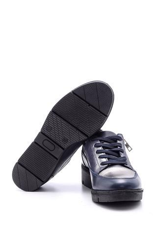 Kadın Fermuar Detaylı Deri Spor Ayakkabı