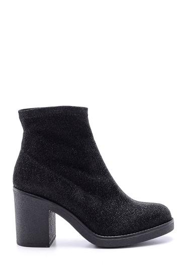 Siyah Kadın Topuklu Simli Bot 5638102029