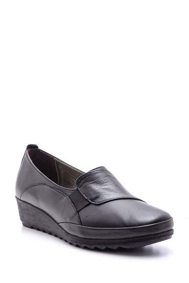 Siyah Kadın Deri Ayakkabı 5638091491