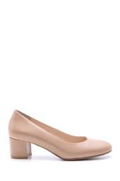 5638117372 Kadın Topuklu Deri Ayakkabı
