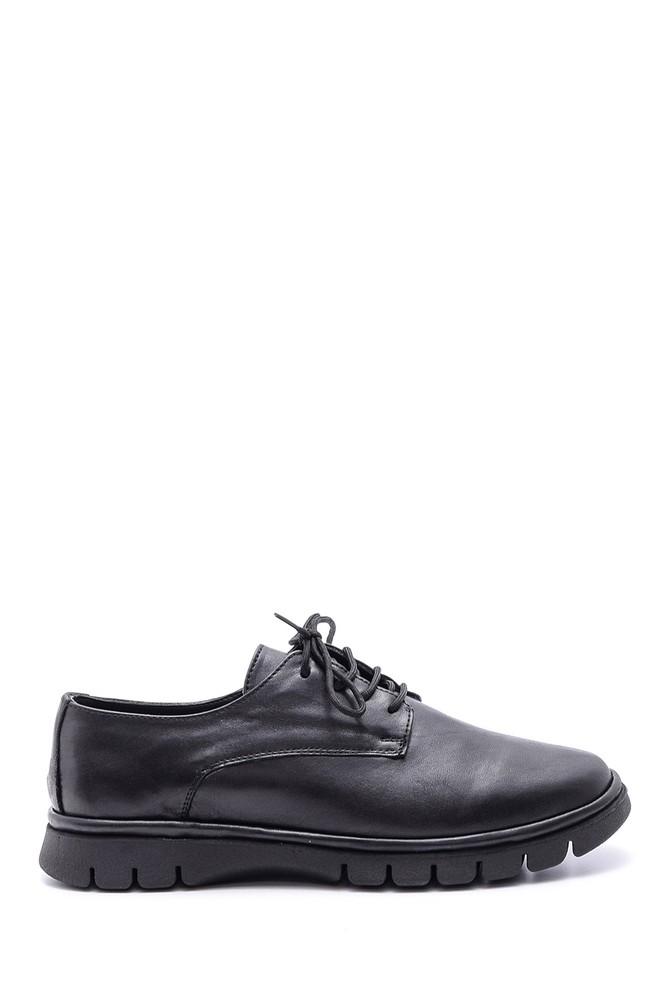 Siyah Kadın Deri Ayakkabı 5638113852