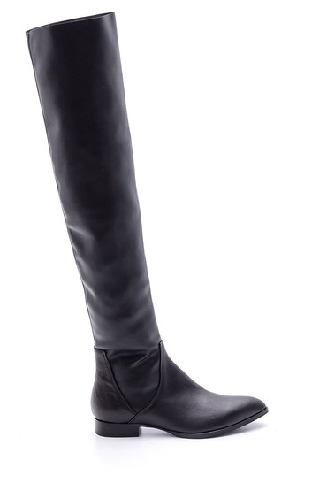 Siyah Kadın Deri Çizme 5638085243