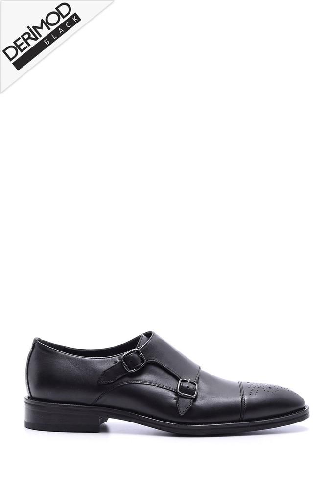 Siyah Erkek Deri Kösele Ayakkabı 5638088232