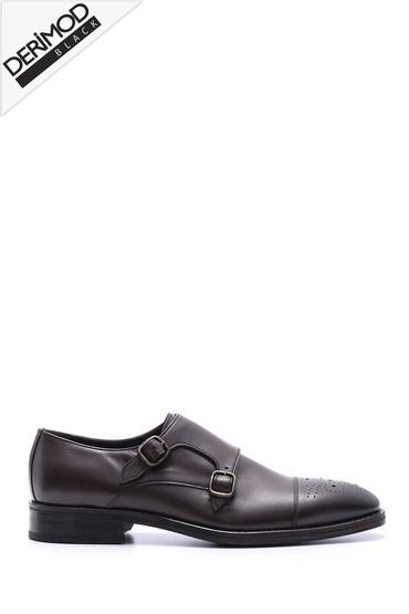 Kahverengi Erkek Deri Kösele Ayakkabı 5638088234