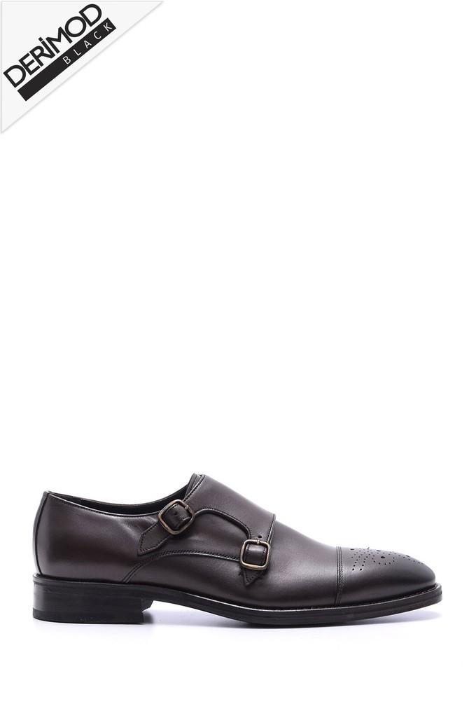 Kahverengi Erkek Deri Kösele Ayakkabı 5638088242