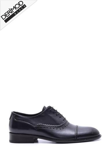 Lacivert Erkek Deri Kösele Tabanlı Ayakkabı 5638088386