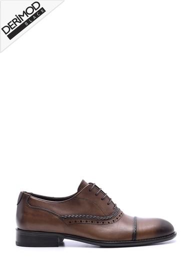 5638088382 Erkek Deri Kösele Tabanlı Ayakkabı