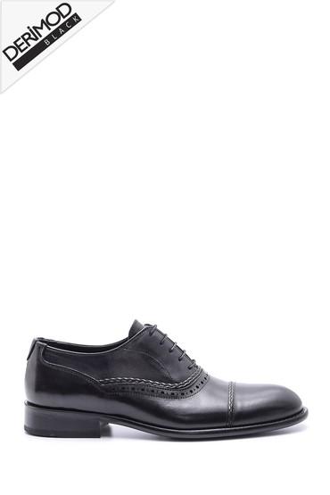 5638088396 Erkek Deri Kösele Tabanlı Ayakkabı