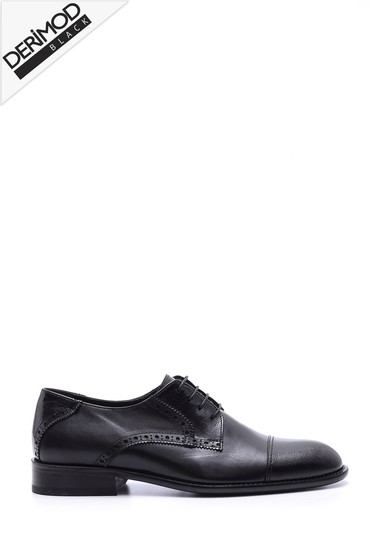 Siyah Erkek Deri Kösele Ayakkabı 5638088420