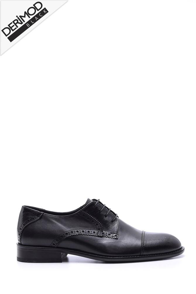 Siyah Erkek Deri Kösele Ayakkabı 5638088439