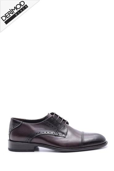 Kahverengi Erkek Deri Kösele Ayakkabı 5638088425