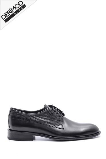 Lacivert Erkek Deri Kösele Tabanlı Ayakkabı 5638088449