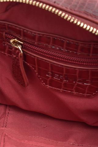 Kadın Kroko Desenli Zincirli Rugan Çanta