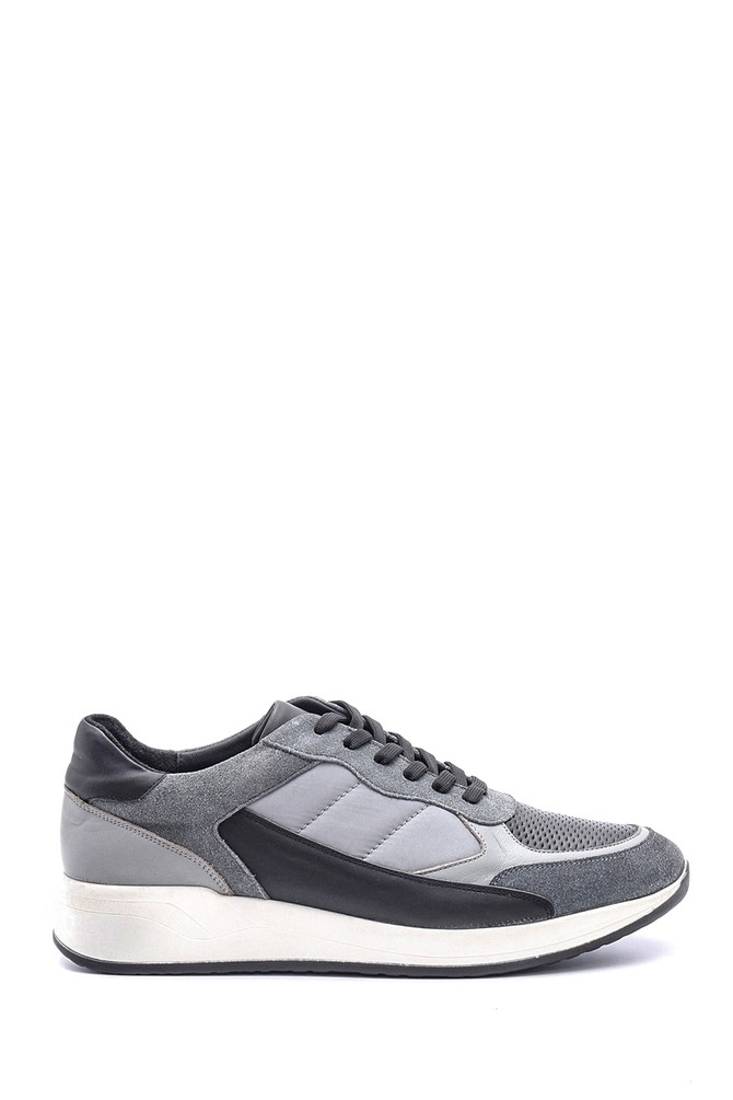 Gri Erkek Deri Sneaker 5638083440