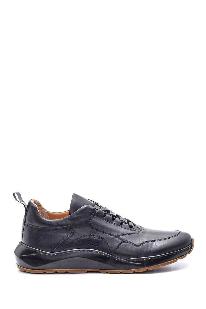 Siyah Erkek Deri Sneaker 5638086027