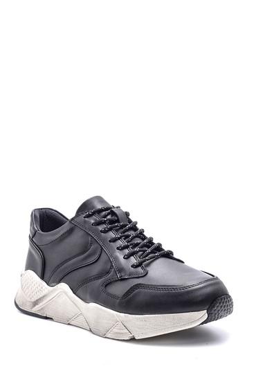 Siyah Erkek Deri Sneaker 5638089431