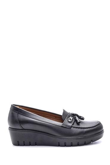 Siyah Kadın Deri Ayakkabı 5638087104